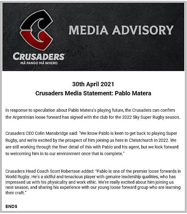Crusaders-statement