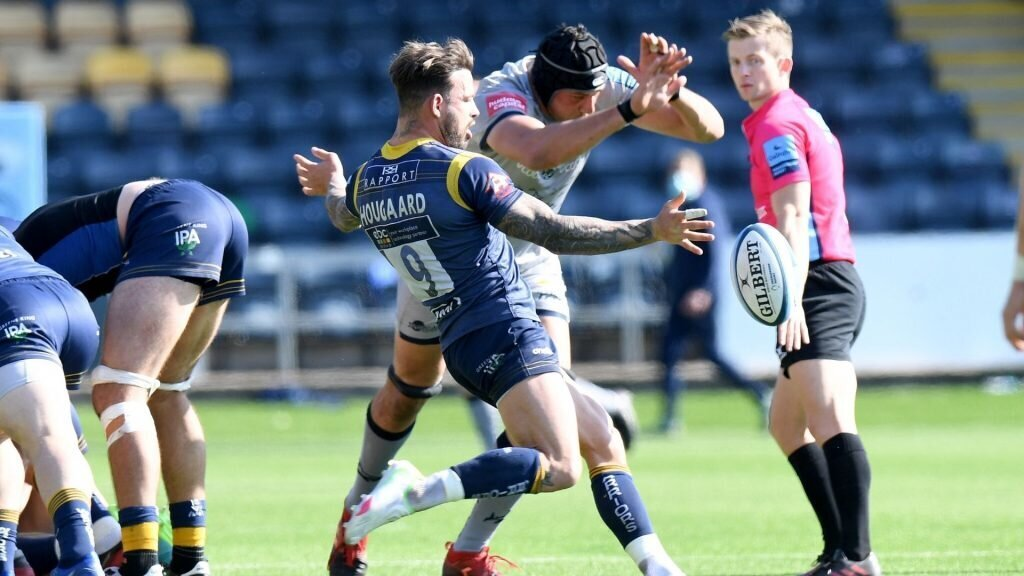 Hougaard hat-trick not enough as Sale edge Worcester