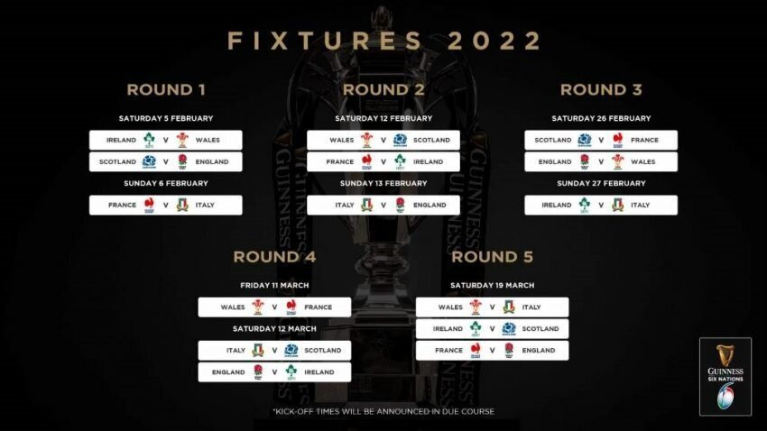 Six Nations fixtures