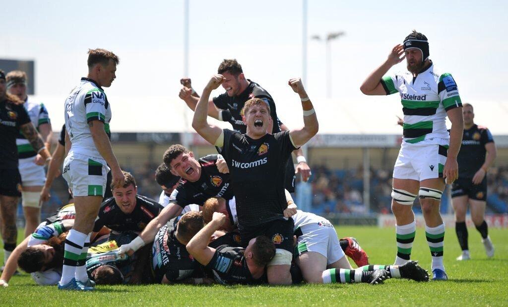 Vermeulen double helps Exeter destroy Newcastle