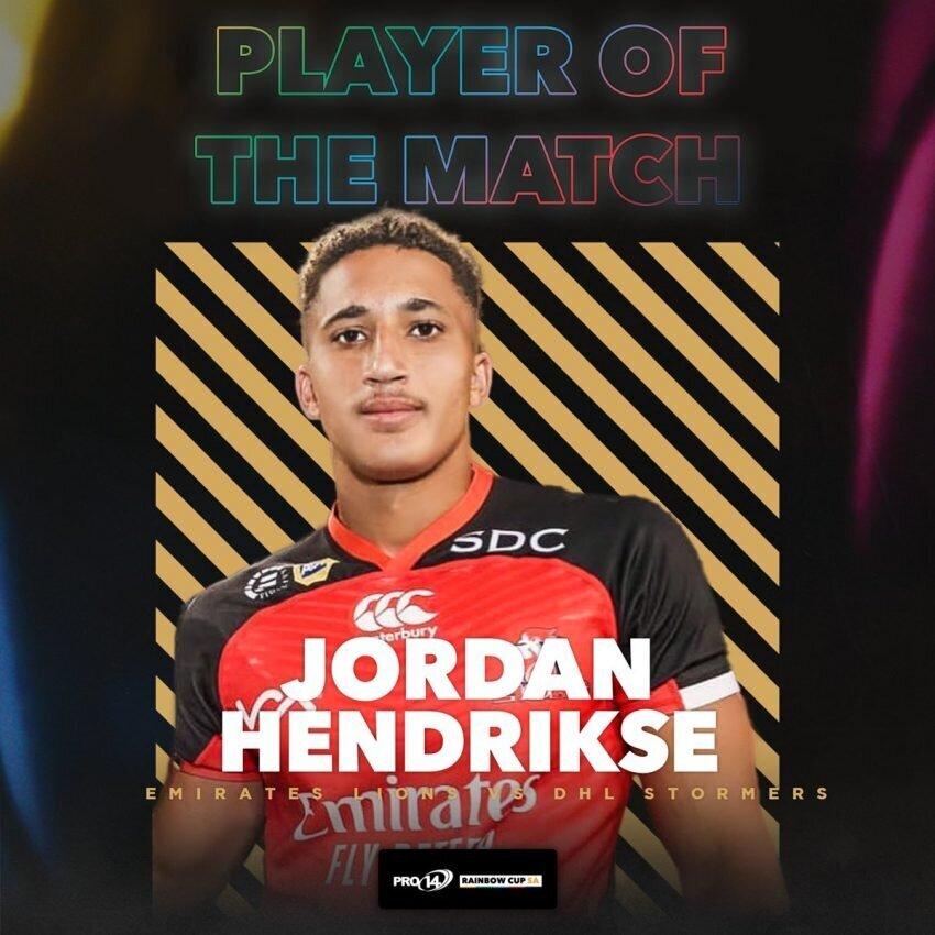 Jordan Hendrikse Lions 2021