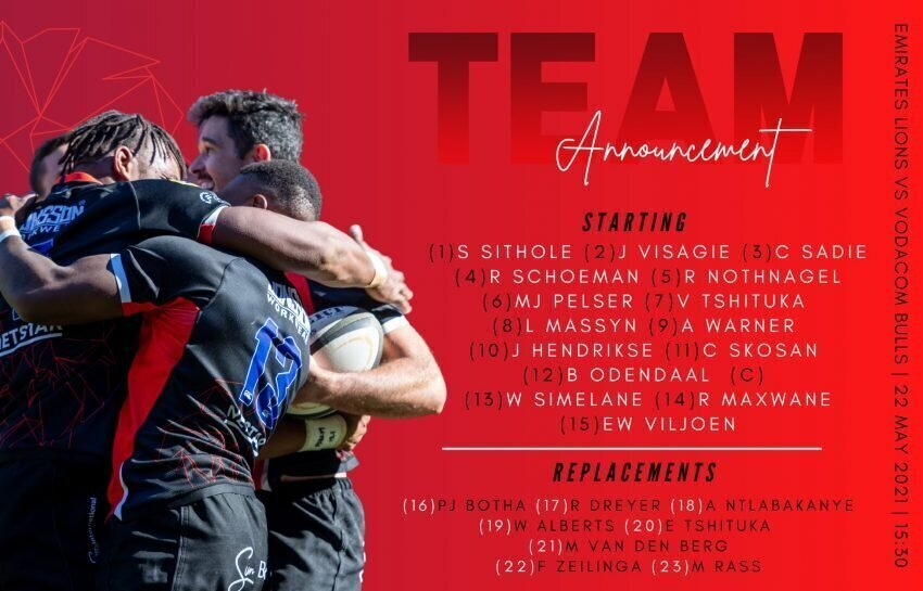 Lions team to face Bulls