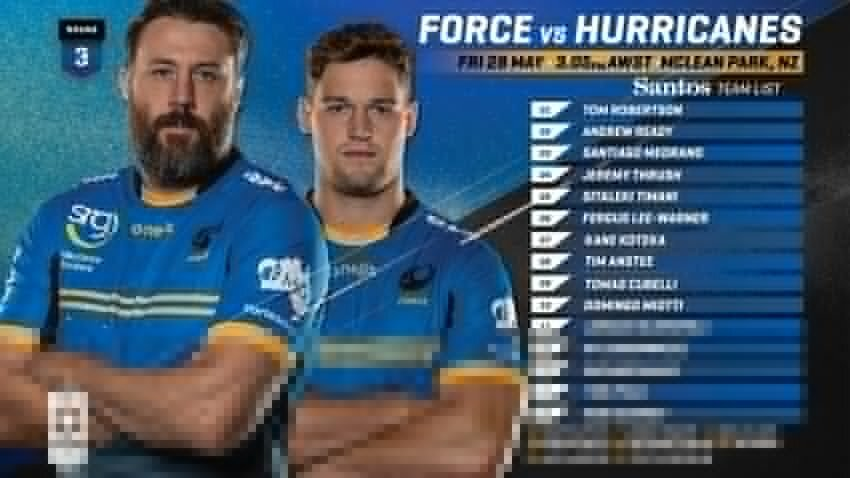 Western Force team to face Hurricabes