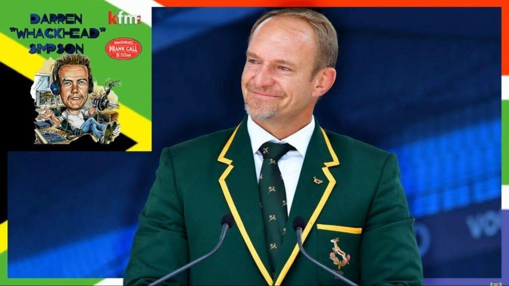 Pranking a Springbok captain