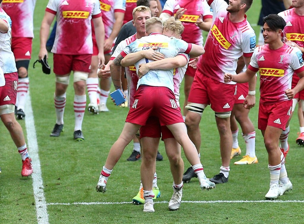 Green's double steers Quins to Premiership final