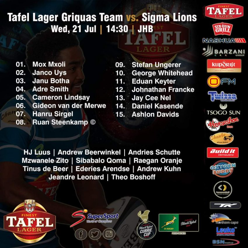 Griquas bring in former Bulls lock for Lions clash