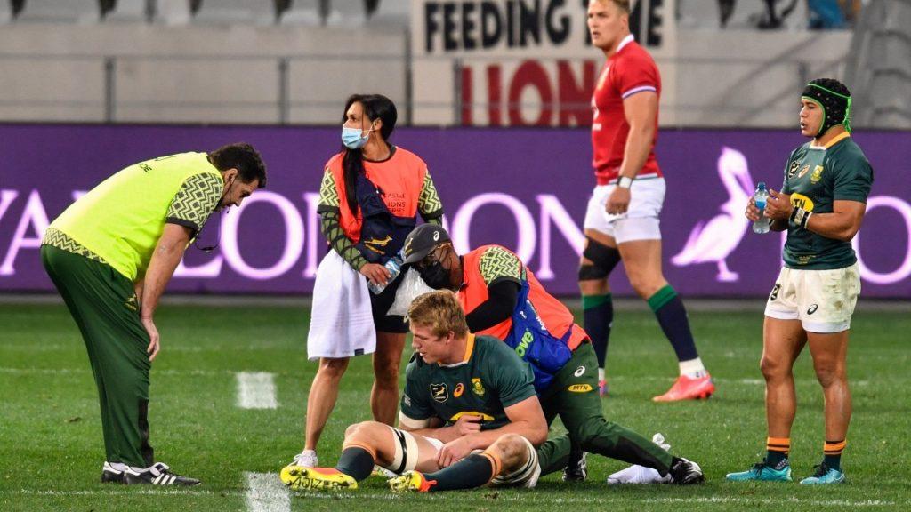 Bok coach expresses concern over Du Toit's injury