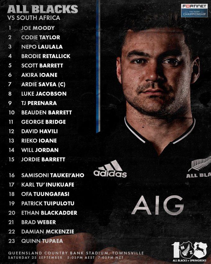 NZ team v Boks 2021