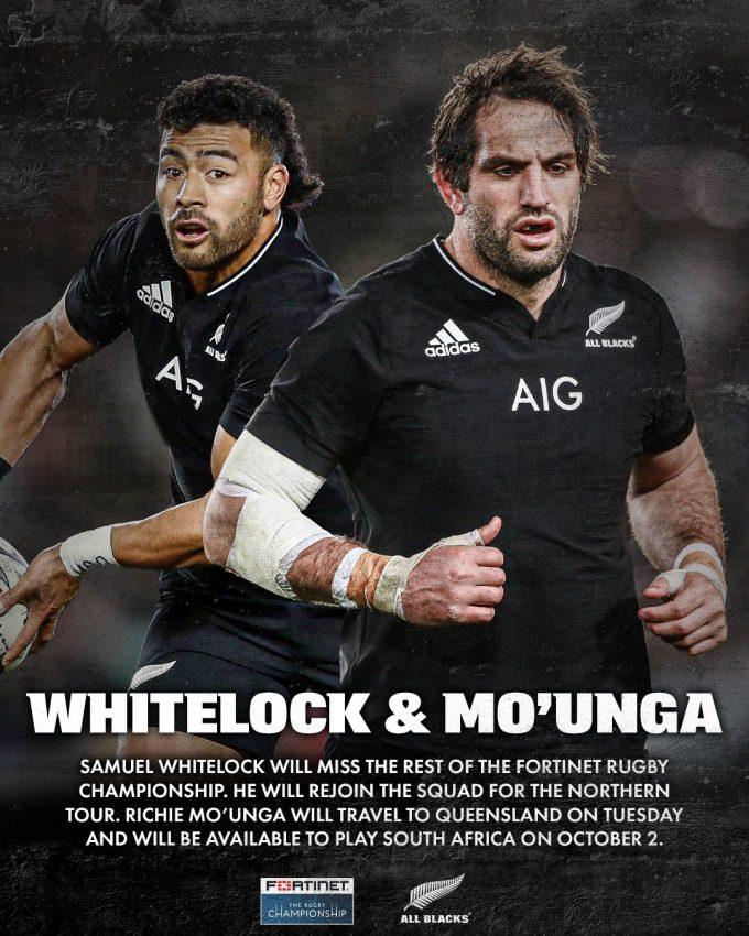 Whitelock and Mo'unga 2021