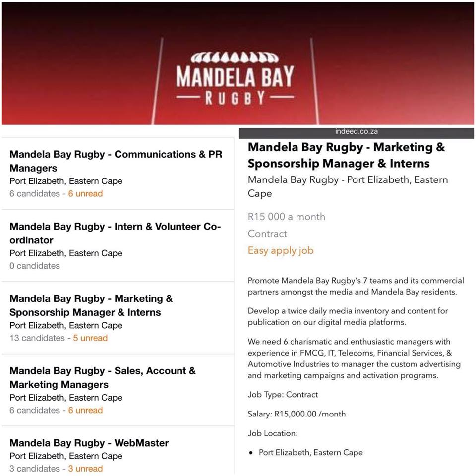 Mandela Bay Rugby: Another failed venture?